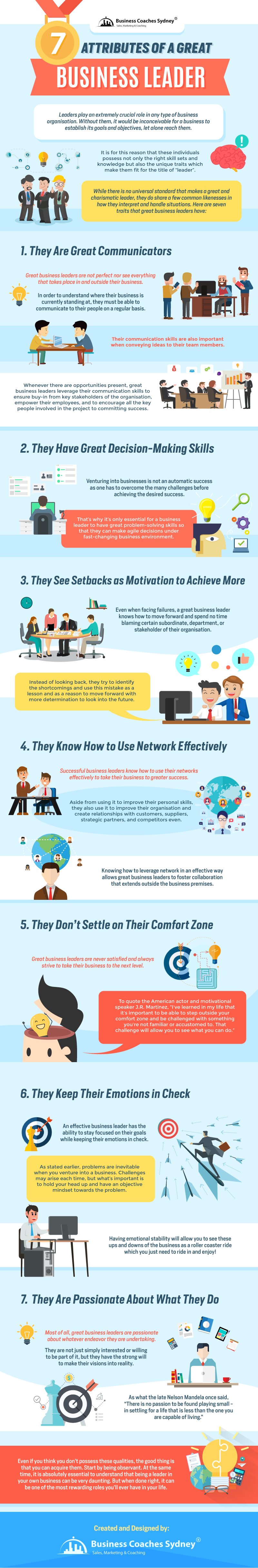 7 Attributes Of A Great Business Leader [INFOGRAPHIC]